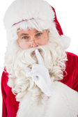 Portrait of santa keeping a secret — Stock Photo