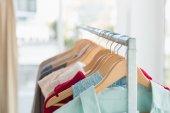Close up of clothing rail  — Stok fotoğraf