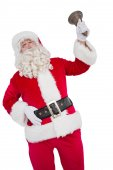 Happy santa ringing a bell — Foto de Stock