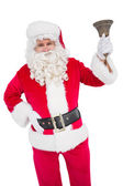 Santa claus ringing a bell — Stock Photo