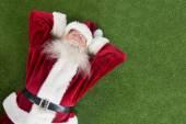 Santa lies, sleeps and has a nice dream — Stock Photo