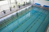Swimming pool in fitness club — Stock Photo