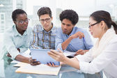 Casual business team having a meeting — Stock Photo
