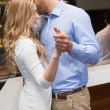 Cute couple slow dancing together — Stock Photo #60812307