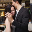 Cute couple slow dancing together — Stock Photo #60812647