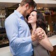 Cute couple slow dancing together — Stock Photo #60812729