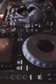 Sound mixer of DJ turntable — Stock Photo