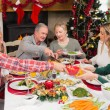 Three generation family having christmas dinner together — Stock Photo #60838001