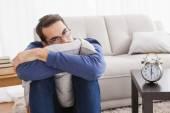 Depressed young man looking at camera — Stock Photo