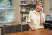 Senior woman on the phone  — Stock Photo