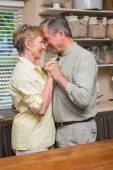 Romantic senior couple dancing together  — Стоковое фото