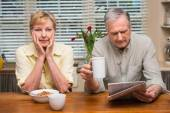 Senior couple spending the morning together — Stock Photo