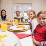 Three generation family having christmas dinner together — Stock Photo #60886613