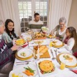 Three generation family having christmas dinner together — Stock Photo #60886627