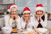 Multi-generation family baking together — Stock Photo