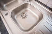 Brushed steel sink  — Stock Photo