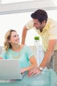 Creative business partners working together — Stock Photo