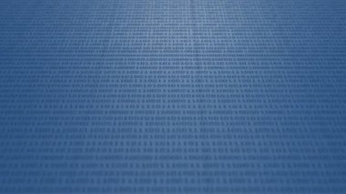 Scrolling blue binary code — Stock Video