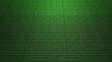 Scrolling green binary code — Stock Video