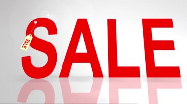 Festive woman with sale shopping bags on white background — Stock Video