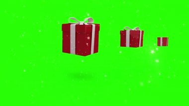 Christmas presents bouncing — Stock Video