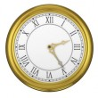 Golden roman numeral clock ticking — Stock Video #62429665