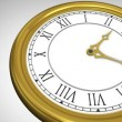 Golden roman numeral clock ticking — Stock Video #62429709