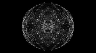 Mirror image pattern moving in a sphere — Vidéo