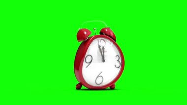 Cute alarm clock counting to midnight — 图库视频影像