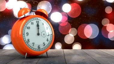 Alarm clock counting down to midnight for new year — Stock Video