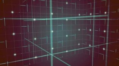 Grid moving on dark background — Stockvideo