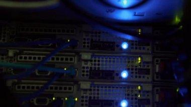 Lights blinking on server — Stock Video