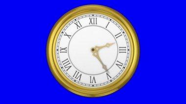 Gold clock — Stock Video