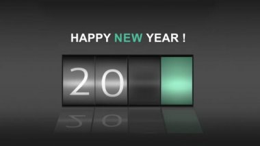 2015 on digital roller with new year message — Stock Video