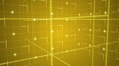 Grid moving on yellow background — Vidéo
