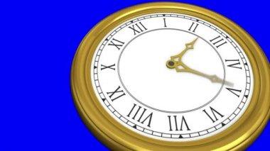 Guld klocka — Stockvideo