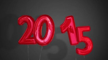 Balloons saying 2015 for the new year — Stock Video