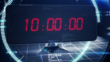 Countdown to 2015 on computer screen in tech style — Stock Video