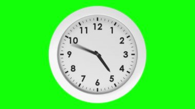 Ticking clock on green background — Stock Video