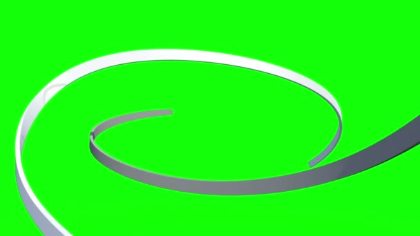 White lines swirling on green background — Vidéo