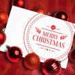 Composite image of banner and logo saying merry christmas — Stock Photo #62468267