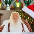 Composite image of happy santa without his jacket — Stock Photo #62469095