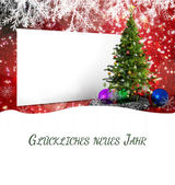 Composite image of  christmas greeting in german — Photo