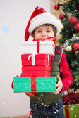 Festive little boy smiling — Stock Photo