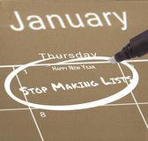 New years resolution on calendar — Stock Photo