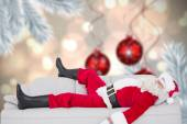 Santa claus sleeping on the couch — Foto de Stock