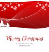 Merry Christmas against fir trees — Stock Photo