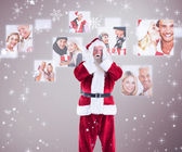 Santa is shocked to camera — Stockfoto