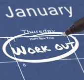 New years resolution on calendar — Stock Photo