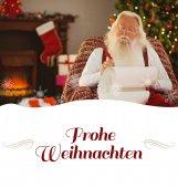 轻松的圣诞老人写作名单 — 图库照片